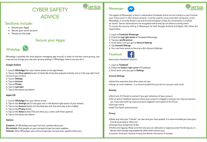 NSAW cyber safety advice