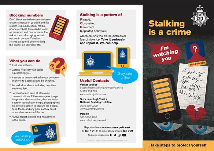 Sussex Police Stalking Leaflet