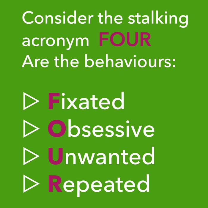 stalking advocacy brighton acronym FOUR