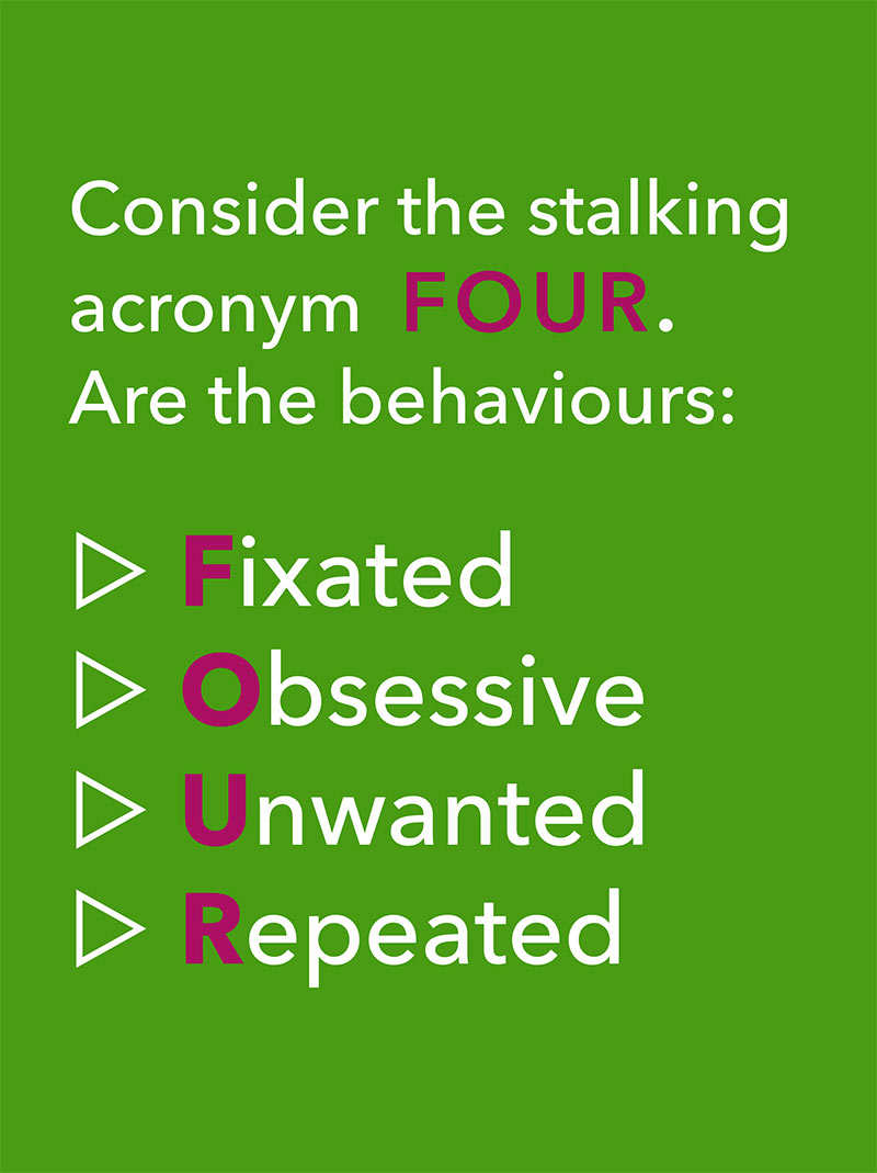 stalking behaviour acronym four